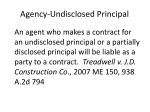 agency undisclosed principal