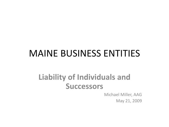 maine business entities n.