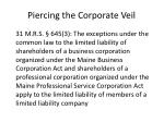 piercing the corporate veil11