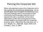 piercing the corporate veil9