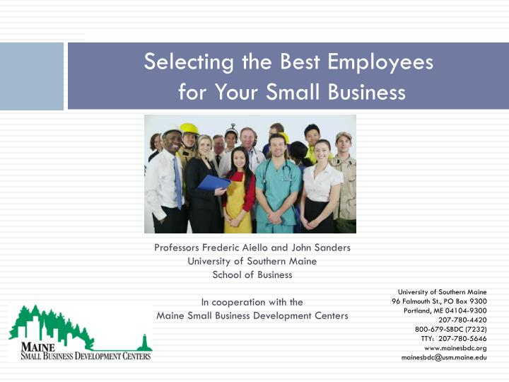 selecting the best employees for your small business n.