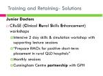 training and retaining solutions4