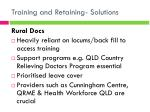 training and retaining solutions6