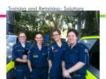training and retaining solutions9