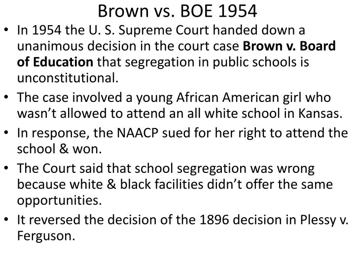 Brown vs. BOE 1954