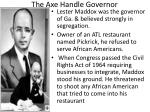 the axe handle governor