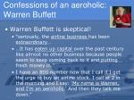 confessions of an aeroholic warren buffett