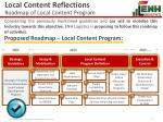 local content reflections roadmap of local content program