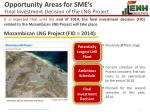 opportunity areas for sme s final investment decision of the lng project