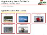 opportunity areas for sme s industrial services detail