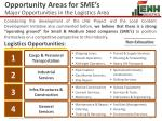 opportunity areas for sme s major opportunities in the logistics area