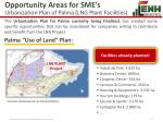 opportunity areas for sme s urbanization plan of palma lng plant facilities