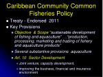 caribbean community common fisheries policy