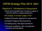 crfm strategic plan 2013 2021