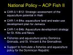 national policy acp fish ii