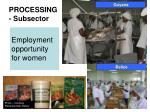 processing subsector