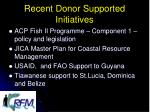 recent donor supported initiatives