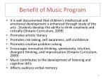 benefit of music program