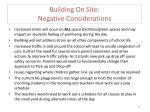 building on site negative considerations