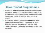 government programmes