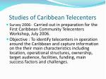 studies of caribbean telecenters