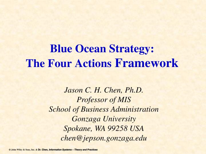blue ocean strategy the four actions framework n.