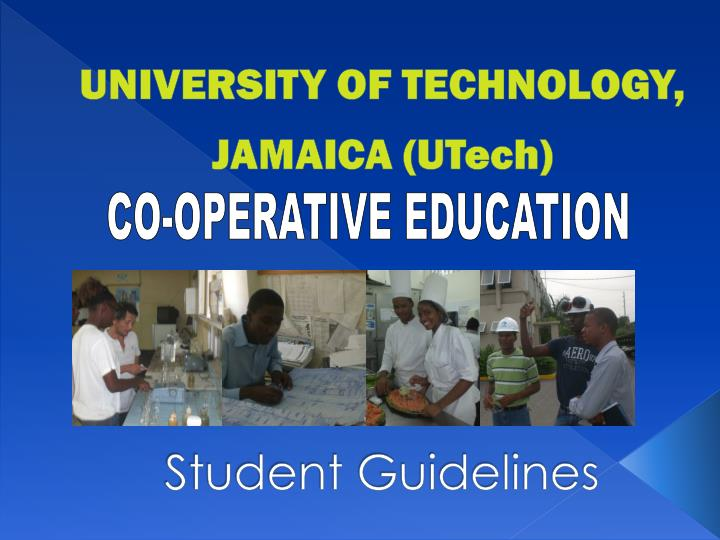 university of technology jamaica utech student guidelines n.