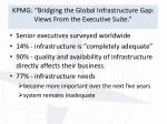 kpmg bridging the global infrastructure gap views from the executive suite