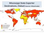 mississippi state exporter destinations value source wisertrade