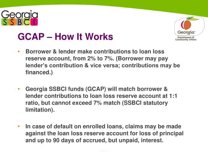 GCAP – How It Works