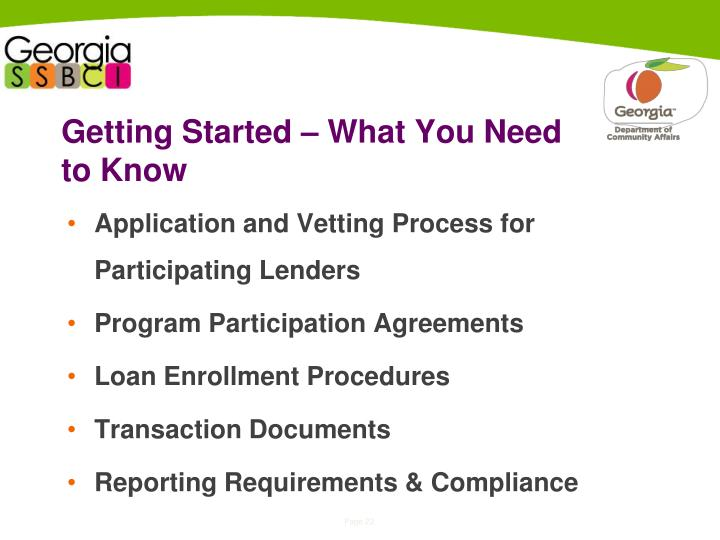 Getting Started – What You Need to Know