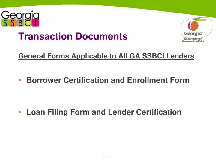 Transaction Documents