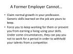 a former employer cannot