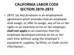 california labor code section 2870 2872