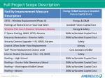full project scope description
