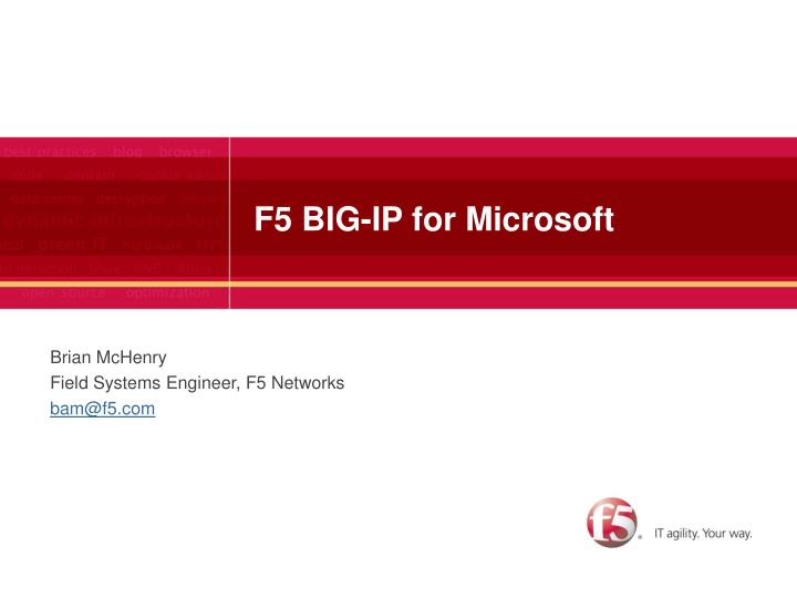 f5 big ip for microsoft n.