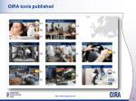 oira tools published