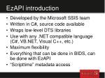 ezapi introduction