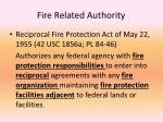 fire related authority