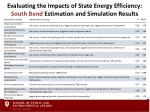 evaluating the impacts of state energy efficiency south bend estimation and simulation results