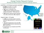 energy frontier research centers blending use inspired research and grand challenge research