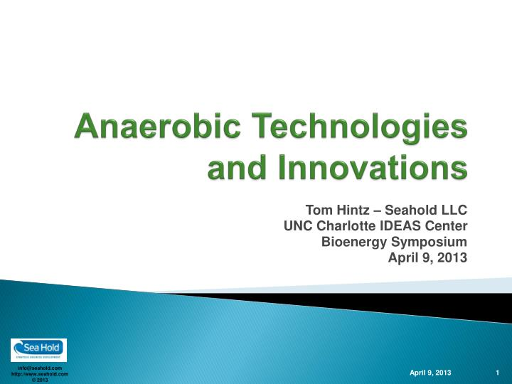 anaerobic technologies and innovations n.