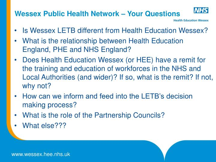wessex public health network your questions n.