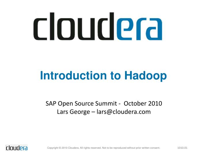 introduction to hadoop n.