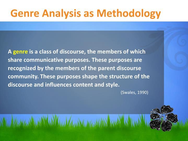 Genre Analysis as Methodology