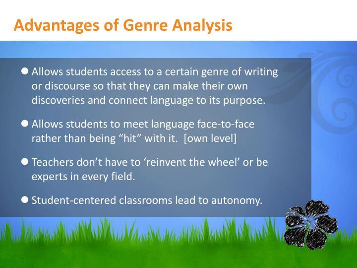 Advantages of Genre Analysis
