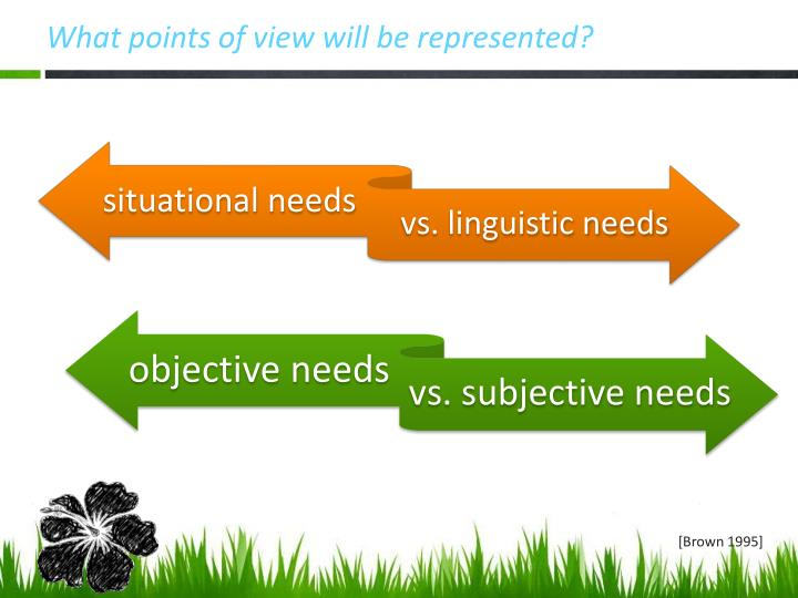 What points of view will be represented?
