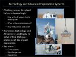 technology and advanced exploration systems