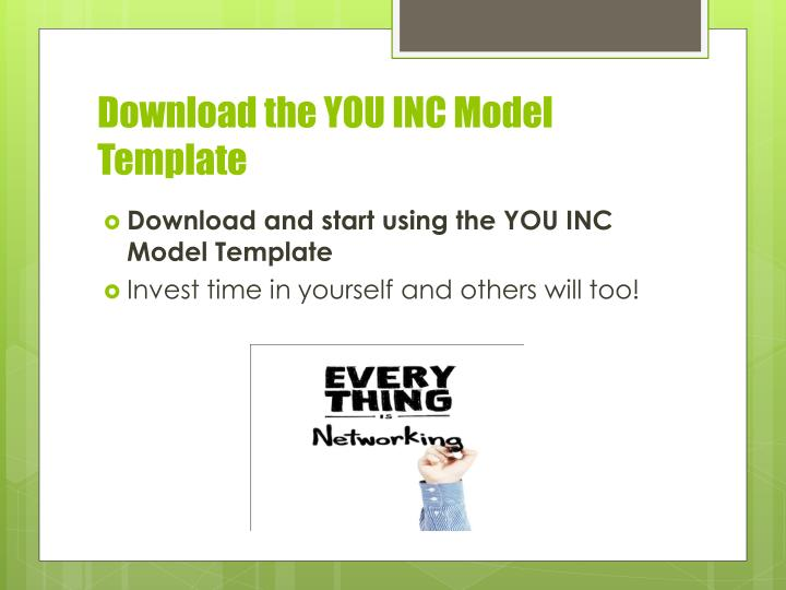 Download the YOU INC Model Template