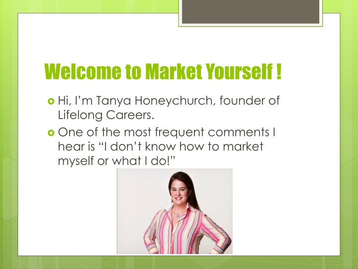 Welcome to market yourself